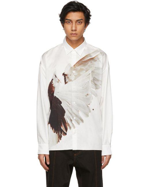 メンズ Etudes Studio Roe Ethridge エディション ホワイト Bird Illusion シャツ White