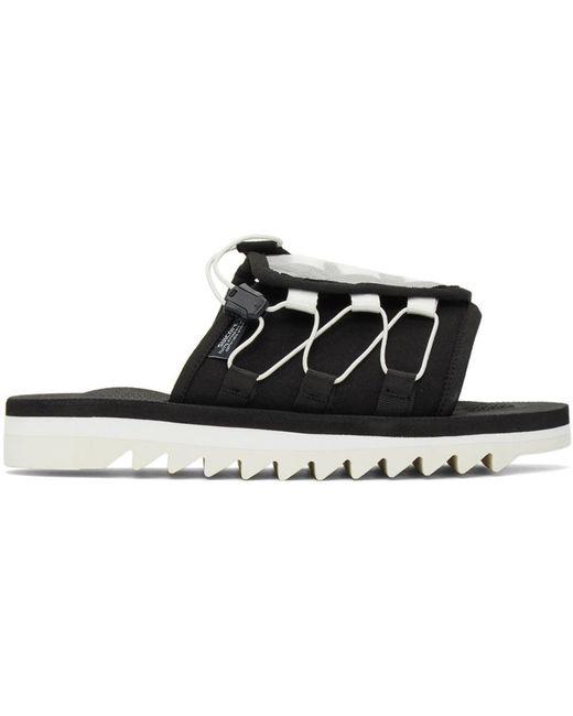 Suicoke Black Dao-2 Sandals for men