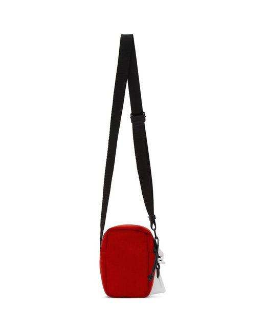 メンズ Maison Margiela レッド キャンバス ミニ メッセンジャー バッグ Red