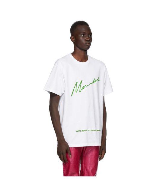 メンズ Mowalola Homecoming Edition ホワイト No Morals T シャツ White