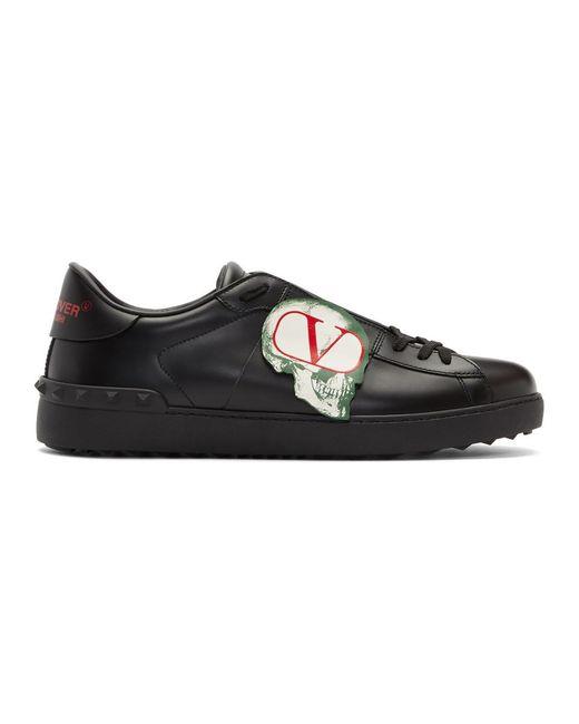 Valentino Black Garavani X Undercover Logo-patch Sneakers for men