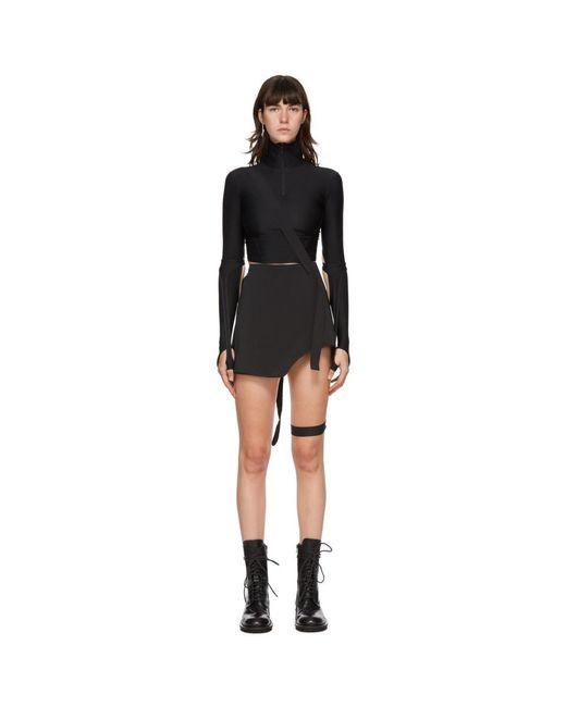 Hyein Seo ブラック ガーター ミニスカート Black