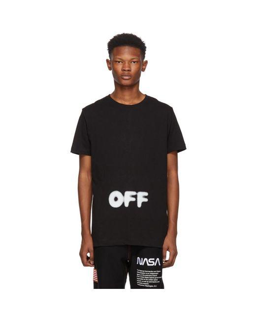 T-shirt noir Kidmograph Slim Off-White c/o Virgil Abloh pour homme en coloris Black