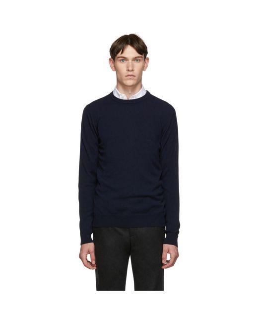 Giorgio Armani Blue Navy Cashmere Sweater for men