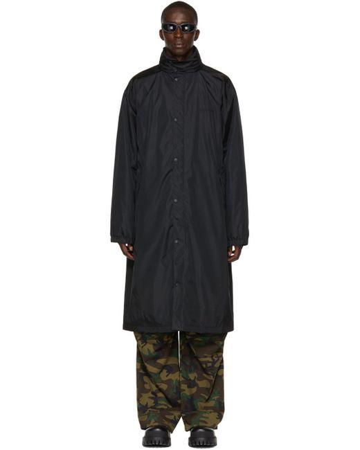 メンズ Balenciaga ブラック Free レインコート Black