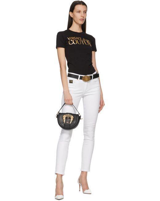 Versace Jeans ブラック V ベルト Black