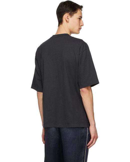 メンズ Acne ブラック Printed T シャツ Black