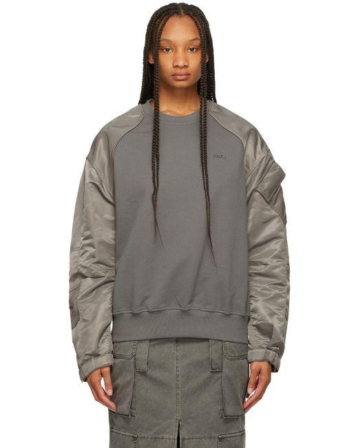 Juun.J グレー Fabric Mix スウェットシャツ Gray