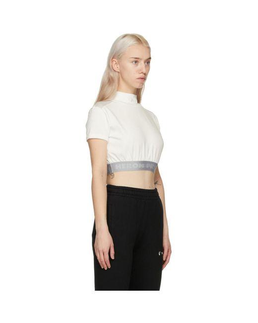 Heron Preston ホワイト And グレー クロップ Style T シャツ White