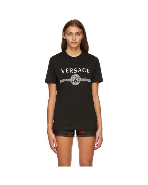 Versace ブラック Medusa T シャツ Black