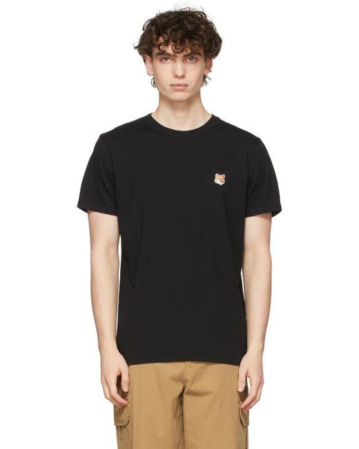Maison Kitsuné Black Fox Head Patch T-shirt for men