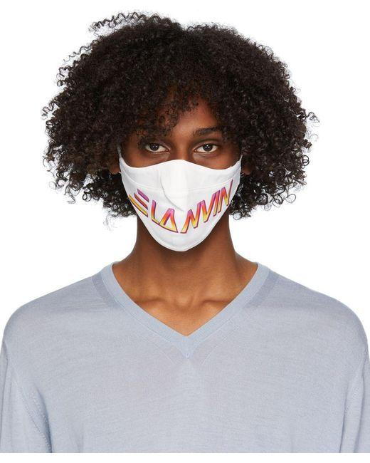 メンズ Lanvin マルチカラー ロゴ フェイス マスク 2 枚セット Multicolor