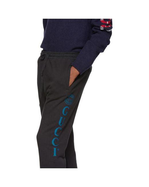 f161116f30a24 ... Gucci - Black Medley Logo Lounge Pants for Men - Lyst ...