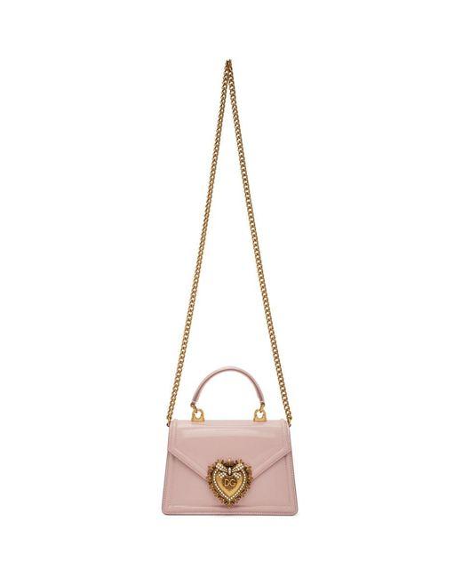 Dolce & Gabbana ピンク スモール Devotion バッグ Pink