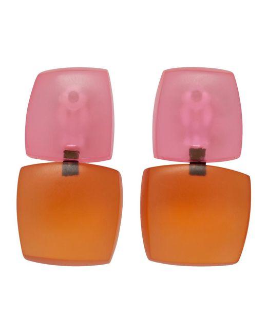 Monies Orange And Pink Izzy Earrings