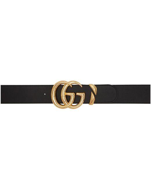 Gucci ブラック オーバーサイズ GG ベルト Black