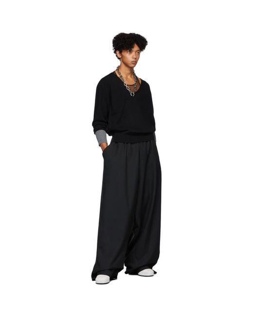 メンズ Random Identities ブラック モールス コード セーター Gray