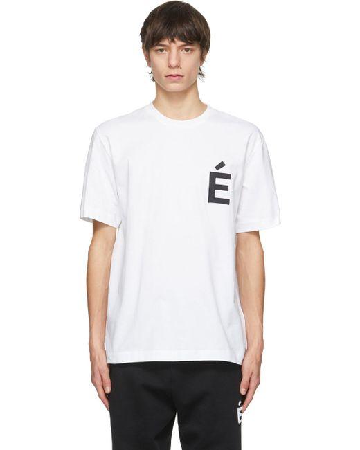 メンズ Etudes Studio ホワイト Wonder Patch T シャツ White