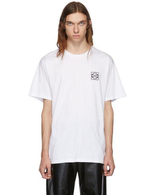 メンズ Loewe ホワイト アナグラム T シャツ White