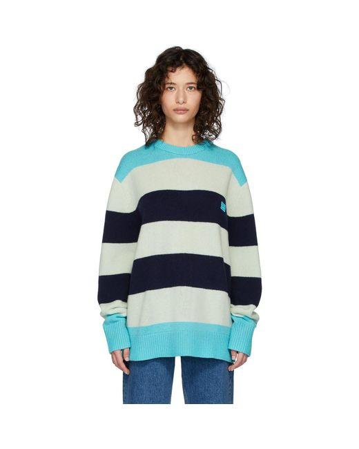 Acne ブルー ウール オーバーサイズ Nimah セーター Blue