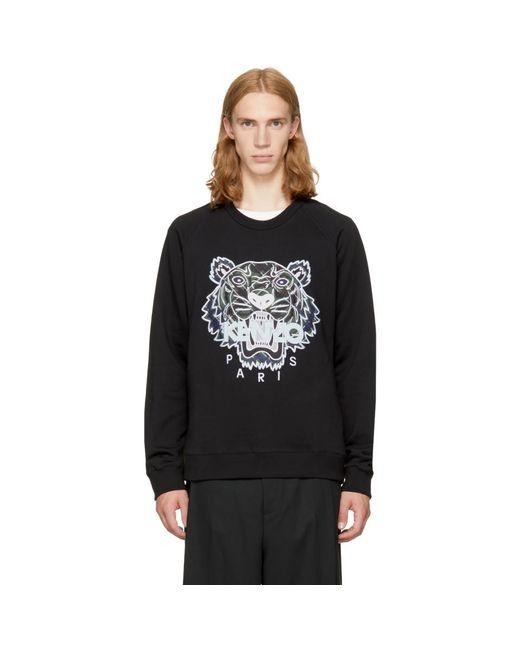 KENZO - Black Relaxed Tiger Sweatshirt for Men - Lyst