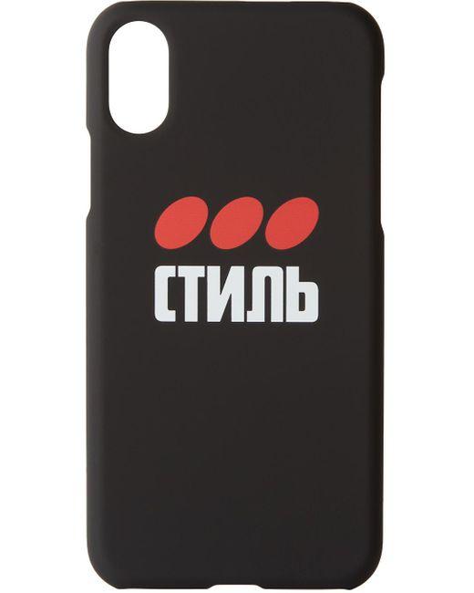 メンズ Heron Preston ブラック Style Iphone Xs ケース Black