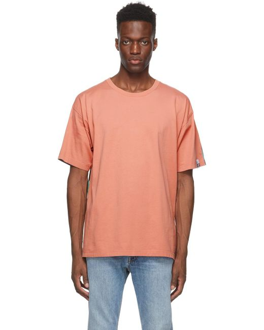 メンズ Golden Goose Deluxe Brand ピンク & マルチカラー Bloom T シャツ Multicolor