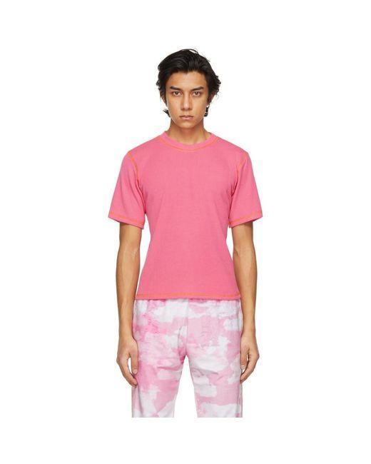 メンズ Phlemuns ピンク Backless T シャツ Pink