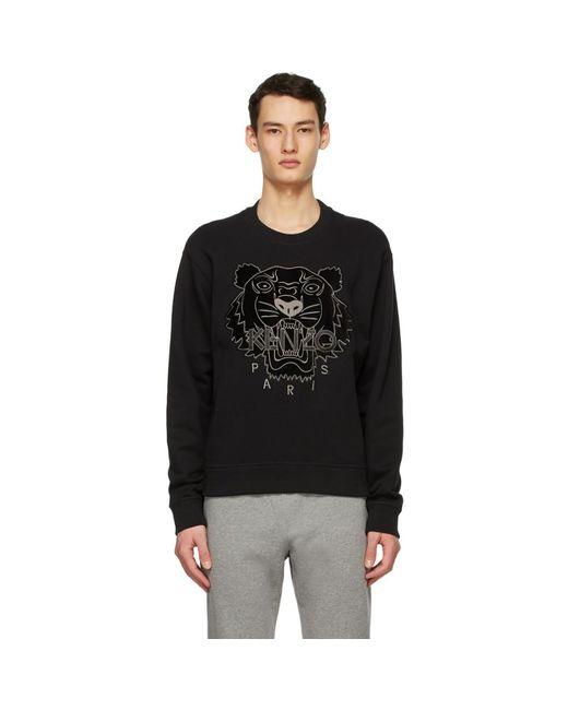 メンズ KENZO ブラック Tiger スウェットシャツ Black