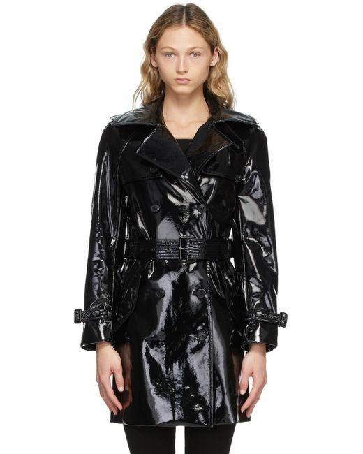 Saint Laurent ブラック トレンチ コート Black