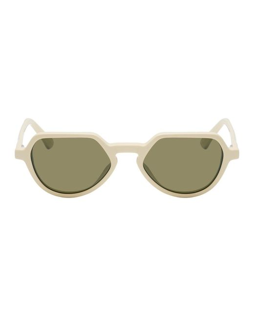 470bf072ce Dries Van Noten - Off-white And Khaki Linda Farrow Edition 183 C4 Sunglasses  for ...