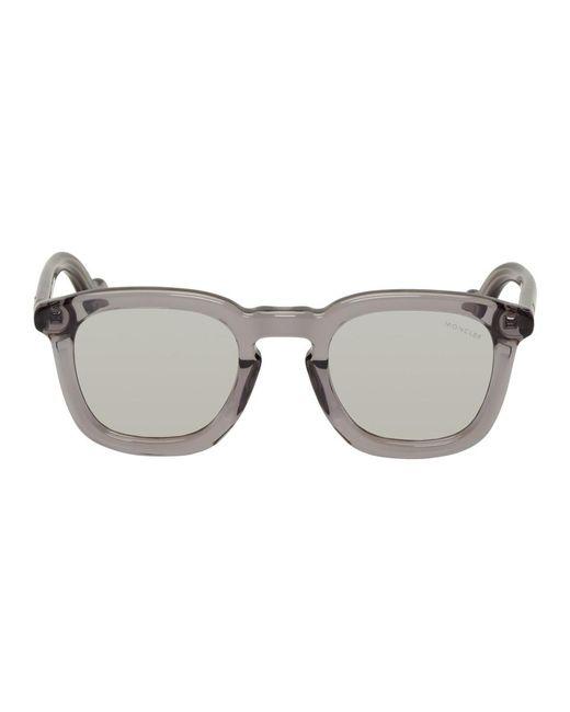 メンズ Moncler トランスペアレント Mr Ml 0006 サングラス Gray