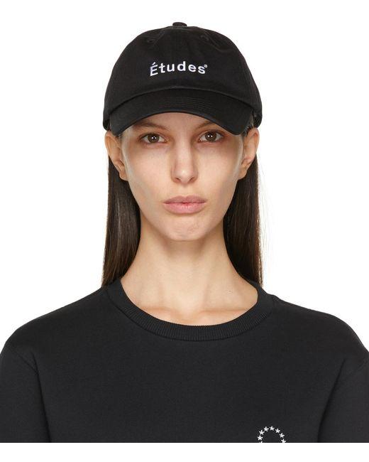 Etudes Studio ブラック Booster ロゴ キャップ Black