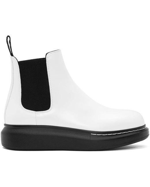 Alexander McQueen ホワイト Hybrid チェルシー ブーツ White