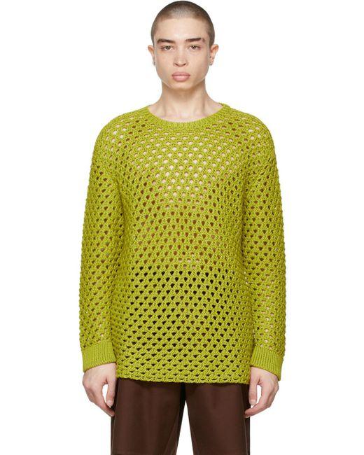 メンズ Valentino グリーン セーター Green