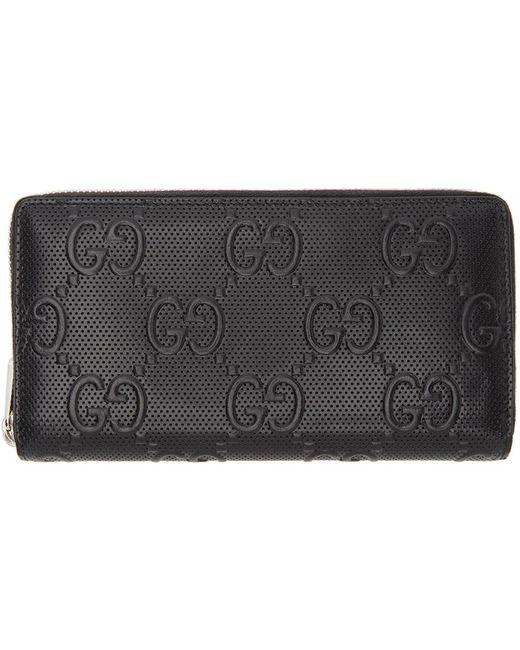 Gucci Black ' Signature' Tennis Wallet for men