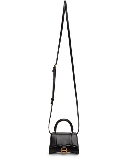 Balenciaga ブラック ミニ Hourglass バッグ Black