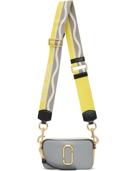 Marc Jacobs グレー & イエロー The Snapshot バッグ Yellow