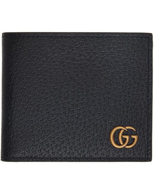 メンズ Gucci ブラック GG Marmont バイフォールド ウォレット Black