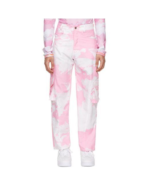 メンズ Phlemuns ピンク Five Pocket Panel カーゴ パンツ Pink