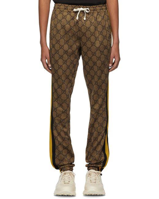 メンズ Gucci ブラウン GG ストライプ ラウンジ パンツ Multicolor
