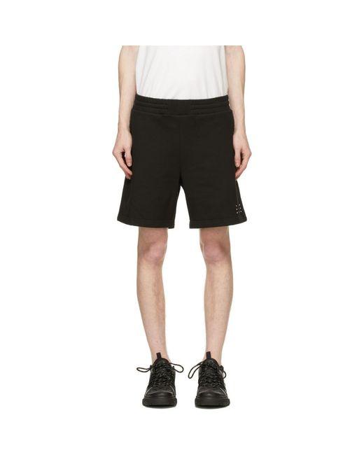 メンズ McQ Alexander McQueen No.0 コレクション ブラック ロゴ ショーツ Black