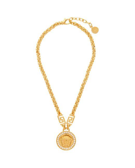 Versace ゴールド Icon メドゥーサ ネックレス Metallic