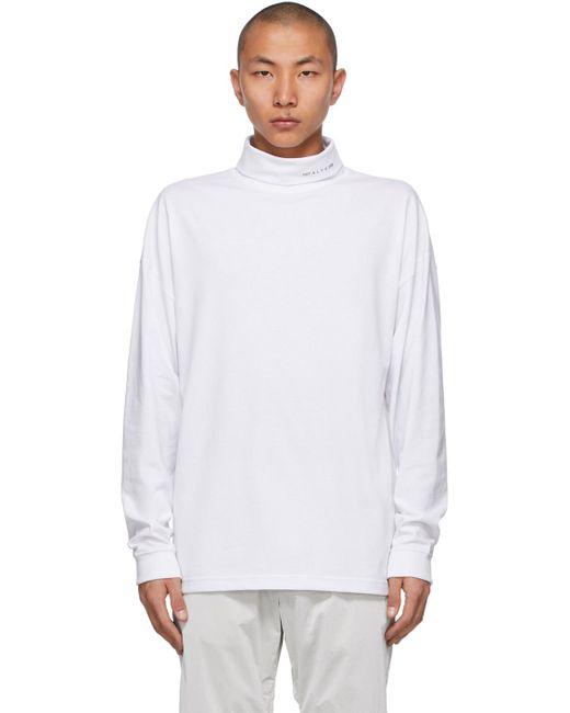 メンズ 1017 ALYX 9SM ホワイト Visual ロゴ タートルネック White