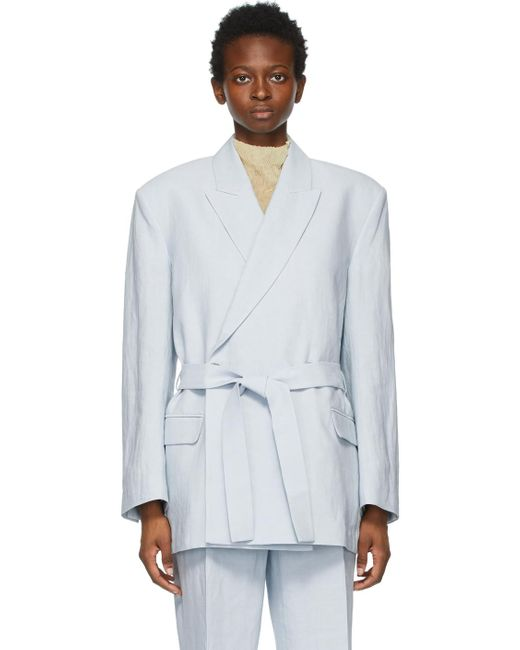 Acne ブルー Belted Suit ブレザー Blue