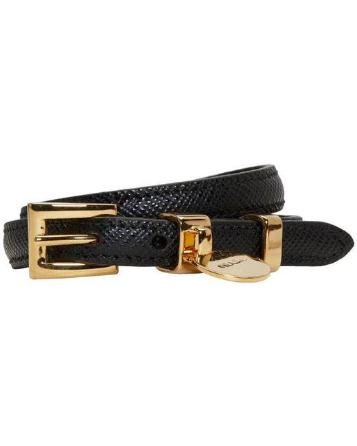 Prada | Black Saffiano Double Wrap Bracelet | Lyst