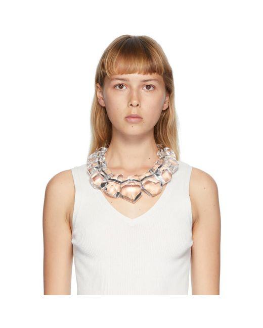 Monies トランスペアレント Doha ネックレス Metallic
