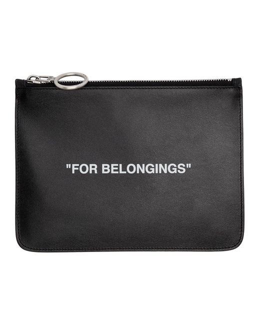 Off-White c/o Virgil Abloh ブラック For Belongings ポーチ Black