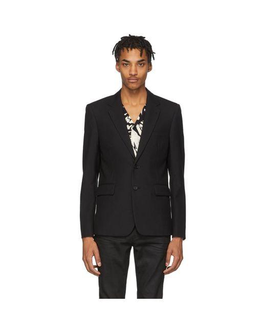 メンズ Saint Laurent ブラック クラシック ブレザー Black