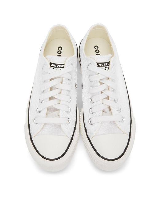 picnic actividad chico  Converse Chuck Taylor All Star Lift Canvas Low Top in White, Black (White)  - Save 80% - Lyst